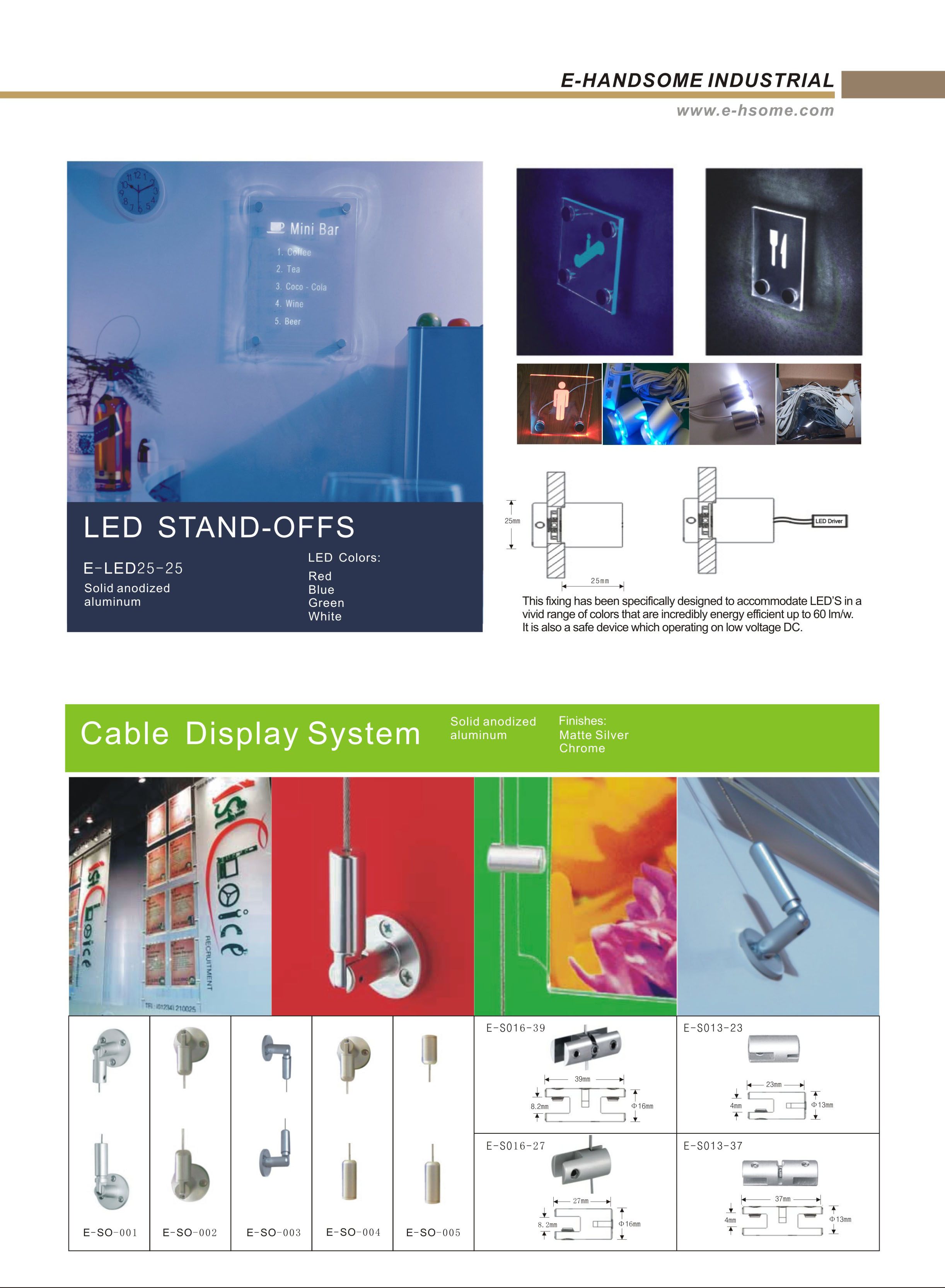 LED STAND OFFS